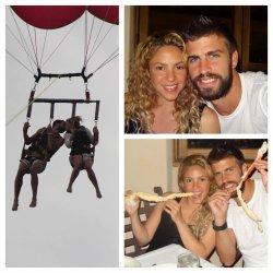 Photo des vacances de Shakira et Gerard !