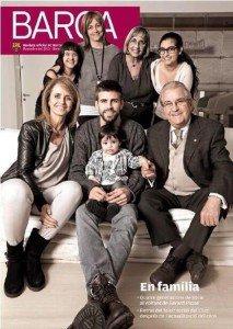 Gerard et Milan posent pour le magazine « Barça »