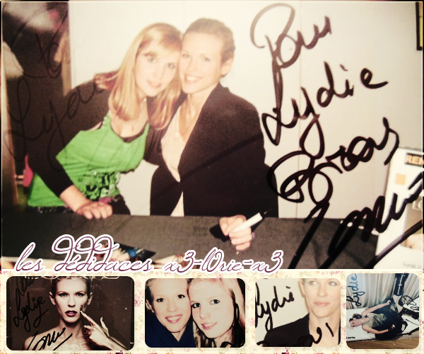 Mes autographes.