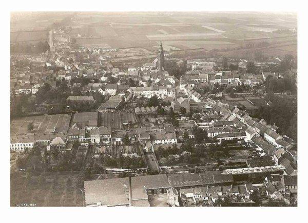 LEUZE - Photo aérienne militaire faite en 1921