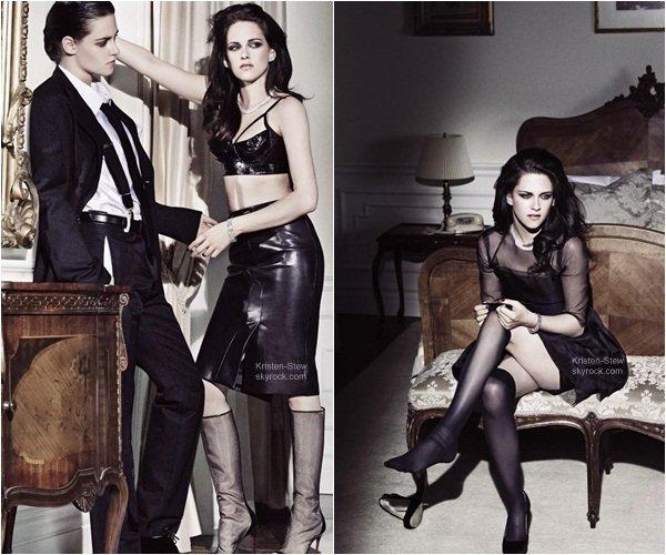03.02.2013 /  De nouvelles photos de Kristen lors du shoot pour le magazine ELLE US (2012) sont apparues en meilleure qualités. Ce shoot est différent des autres ce n'est pas mon préféré mais au moins sa change.