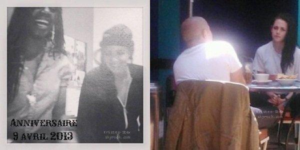 05.06.2013 /  Une nouvelle photo datant du 9 avril lors de l'anniversaire de Kristen vient d'apparaître. L'autre photo est une ancienne photo qui vient seulement de faire son apparition, on ignore sa date pour le moment.