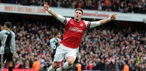 Arsenal 5-2 tottenham le: 17/11/2012