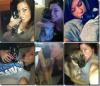 Elle et ses chiens.