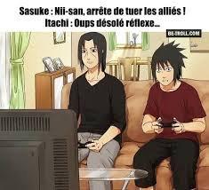 Sasuke joue avec itachi
