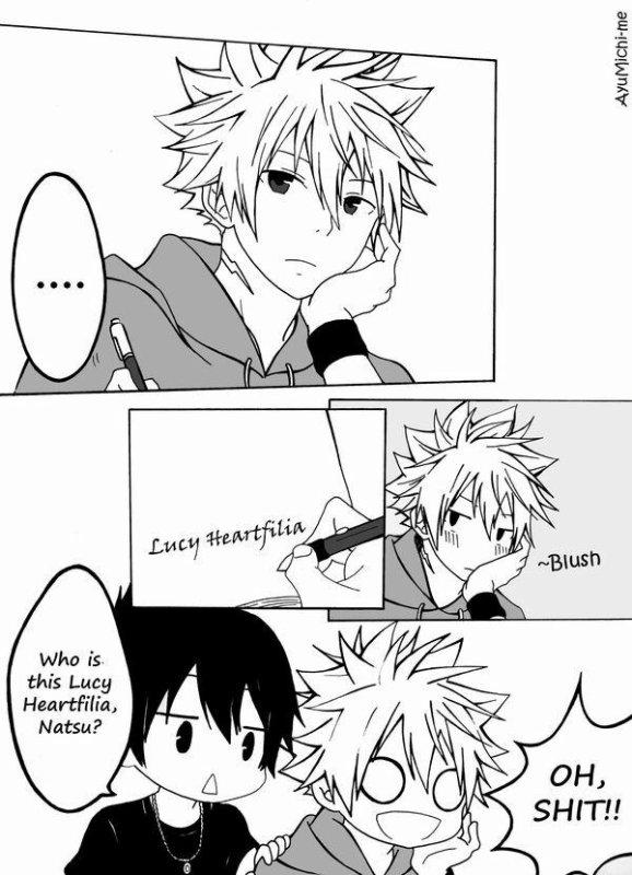 Natsu pense à lucy
