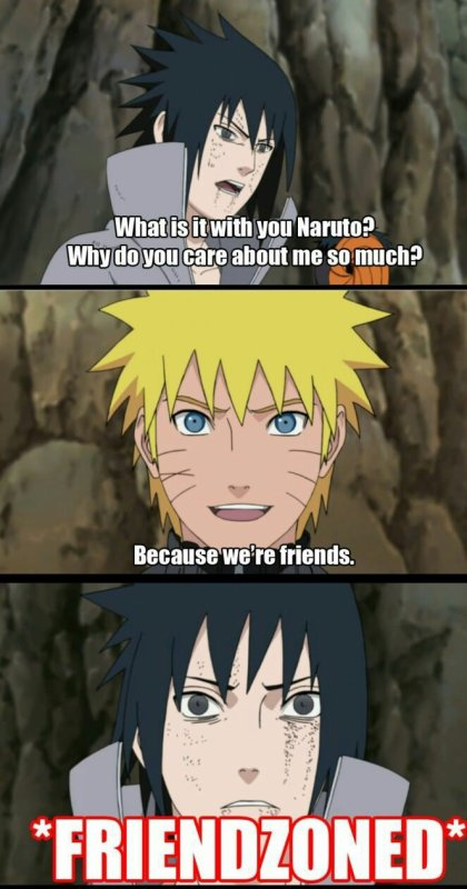 Sasuke dans la friendzoned