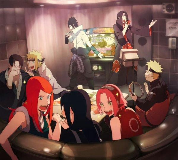 Les soirées des familles uchiha et uzumaki
