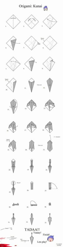 Origami de kunai