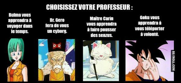 Qui veux tu comme prof