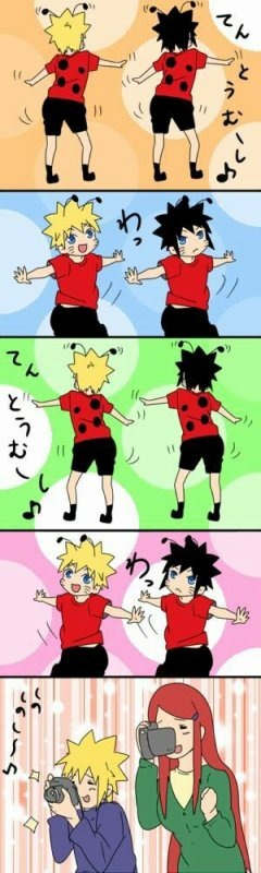 Naruto et Menma en coccinelle