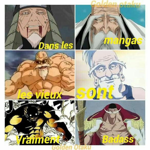Les vieux sont toujours cool dans les mangas
