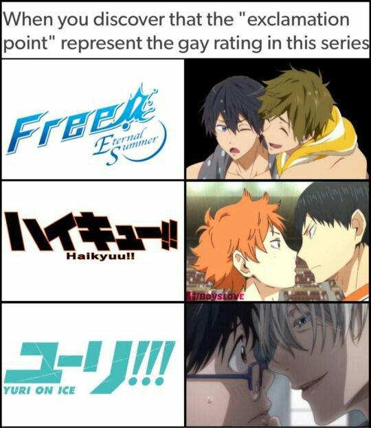 Les yaois des les mangas de sport