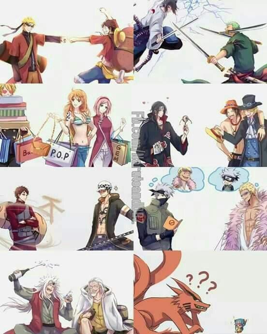 Naruto one pièce crossover