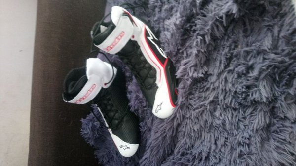 Mes nouvelles bottes de moto