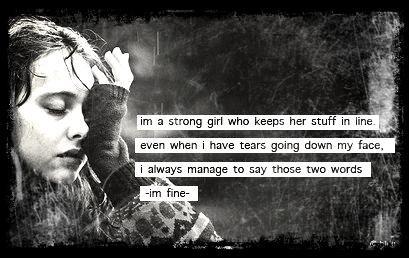 Quand il n'y à plus que les larmes, je continue d'avancer... Seule dans le noir.