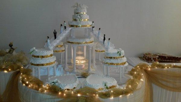 ... montée mariage antillais doré et blanc - Blog de gateaux-antillais