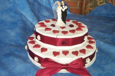 gteau double mariage bordeaux - Gateau Dragee Mariage