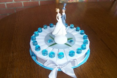 gâteau galet turquoise