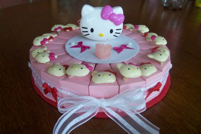 gâteau hello kitty rose