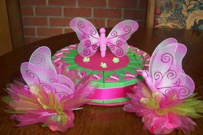 gâteau papillon rose