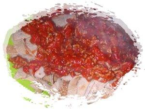 tagliatelles de crepes a la bolognaise