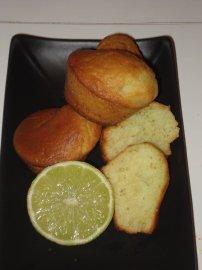 Mousse de mangue au citron vert en verrine et petit muffins au citron vert