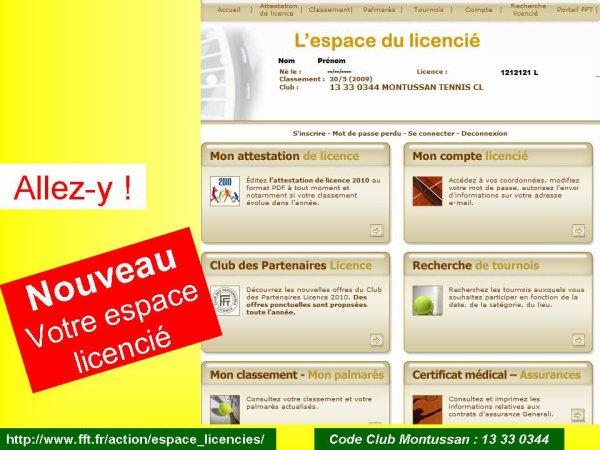 pour votre licence et plein d'infos…Retrouvez le nouveau site ici...http://www.club.fft.fr/montussantc/