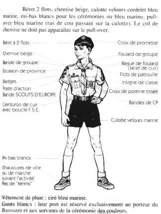 Uniforme scout d'europe