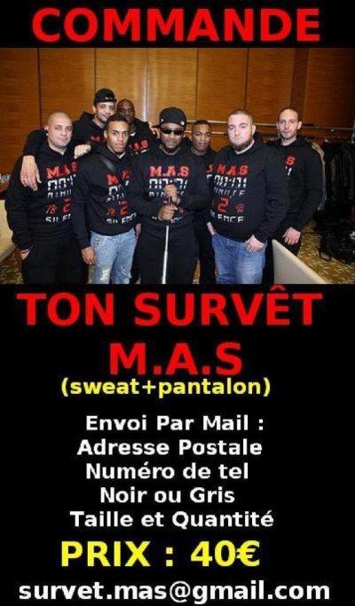 Commande ton ensemble survet  M.A.S