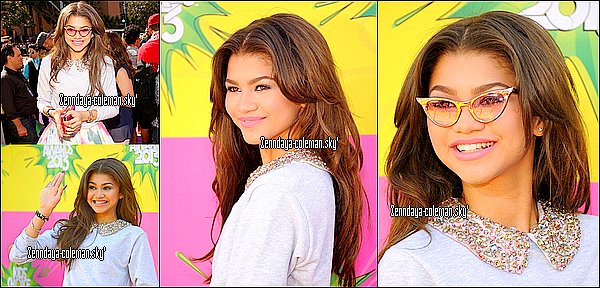 23.03.13. Zendaya était aux Nickelodeon's 26th annual kids choice awards.