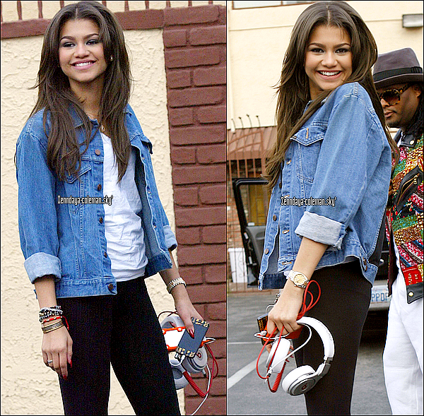"24.03.13. Zendaya a été vu allant au répétitions de ""dancing with the stars"""