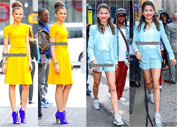 """Zendaya 23.05.13 dans les rues de NYC & 22.05.13 se rendant à """"Good Morning America"""" pour célébrer DWTS."""