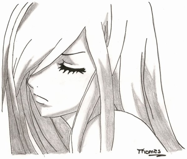 Erza scarlet drawings of fairy xd - Dessiner fairy tail ...