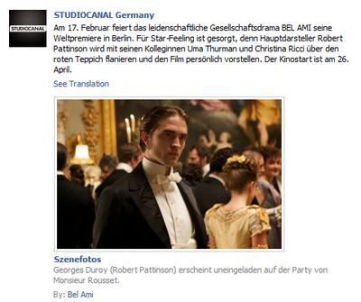 Vidéos BD & Avant Premiére à Berlin pour Bel Ami