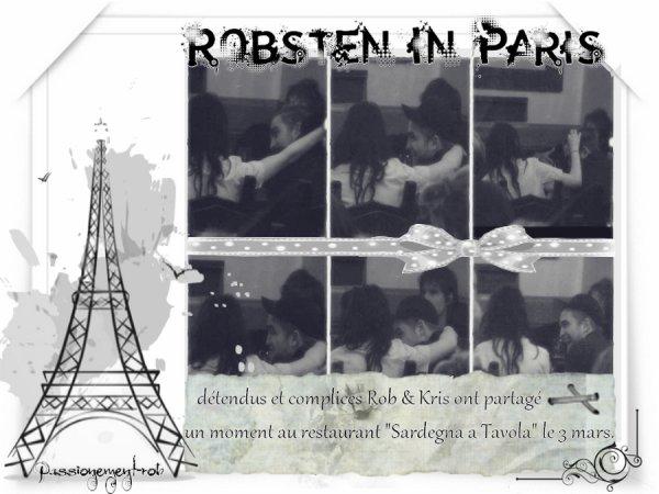 """3mars : """" Rob """" à Paris en Compagnie de """" Kris """""""