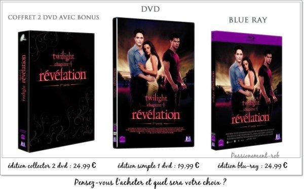 Vendredi 16 Mars Sortie Nationale Dvd Révélation partie 1! So Happy  :D