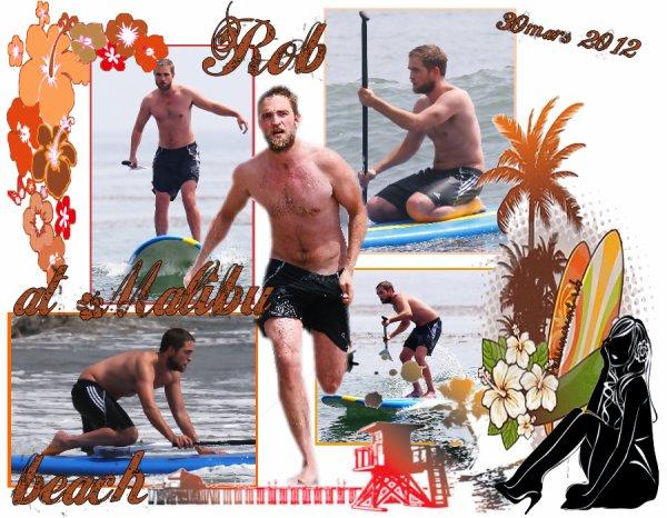 Rob sous le soleil de Malibu!