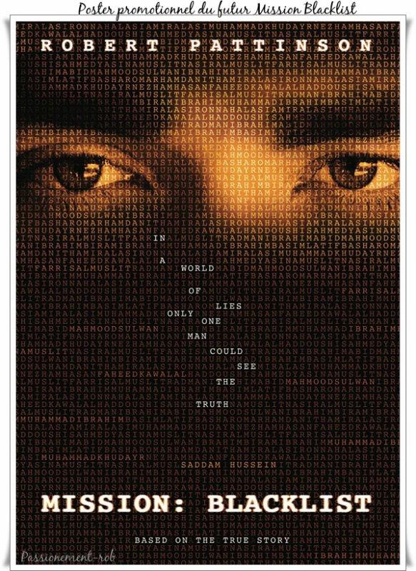 Un nouveau Projet de film : Robert Pattinson traquera Saddam Hussein dans MISSION : BLACKLIST