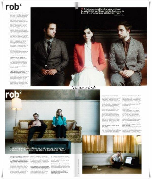 """"""" Rob """" en couverture de PREMIERE """" Le Choc Pattinson """" magasine édition Spéciale Cannes !"""