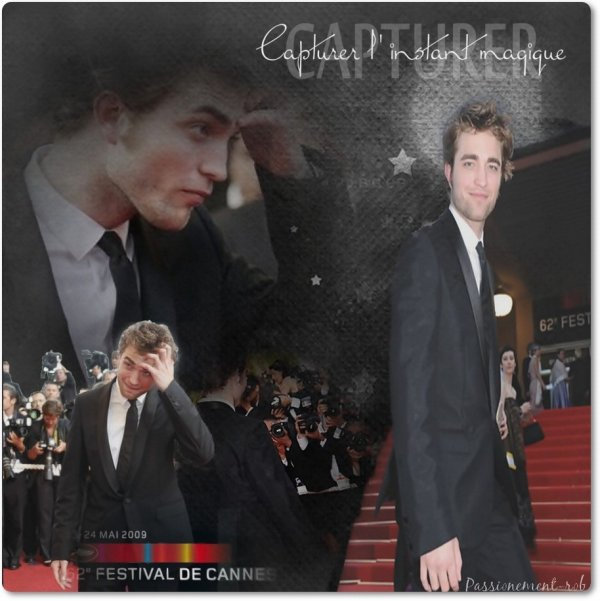 """Rétrospective de la prémiére participation de """"Rob"""" au festival de Cannes 2009 & Programme pour celle à venir soit le 25 mai 2012 ^^"""