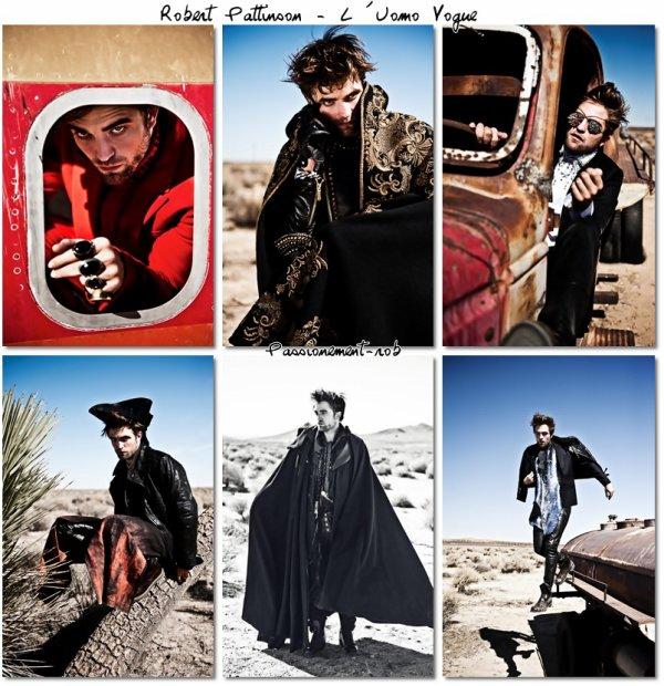 """Nouvelles photos Rob pour le magasine Italien """" UOMO VOGUE """" & Promo BD Dans diverses Emissions"""