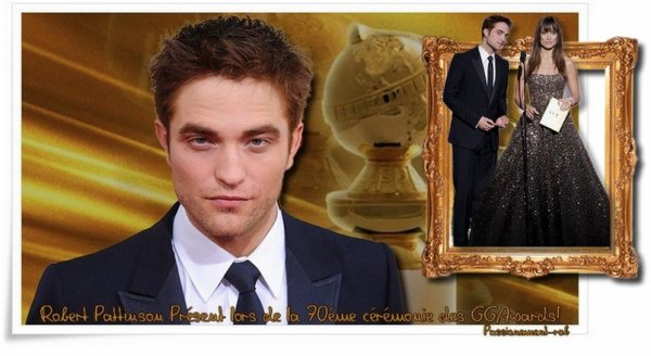 Heureuse Année à tous  8-p - Rob & Kris Londres Janvier 2013 - 13 Janvier - Rob aux Golden Globes Awards