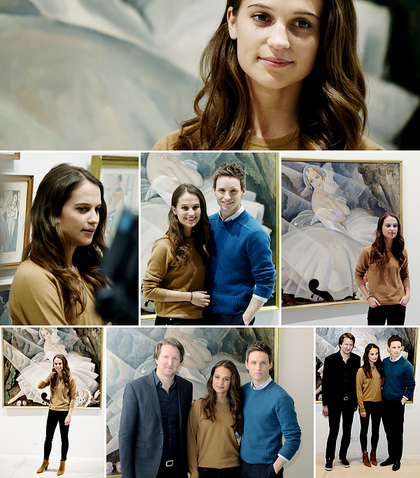 PROMOTION DE 'THE DANISH GIRL' A COPENHAGUE.