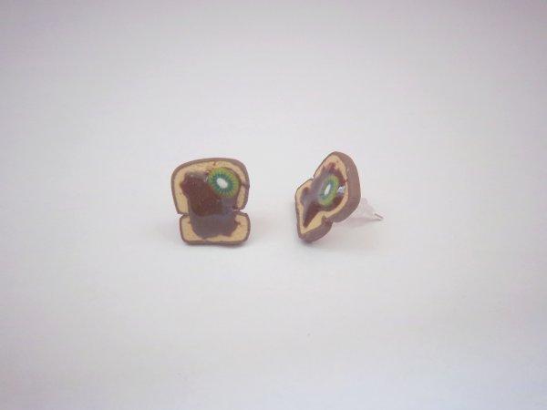 Puces tartines chocolat-kiwi