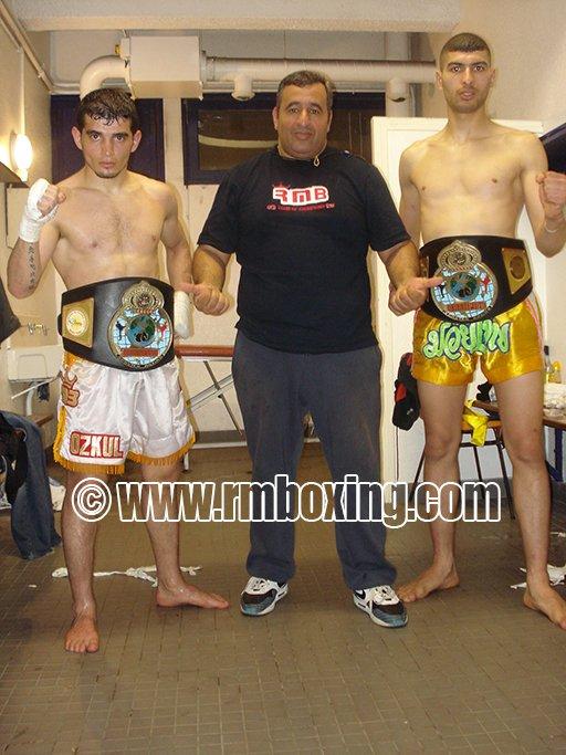 Yetkin Ozkul et Kamel Mezatni du RMBOXING champion de France
