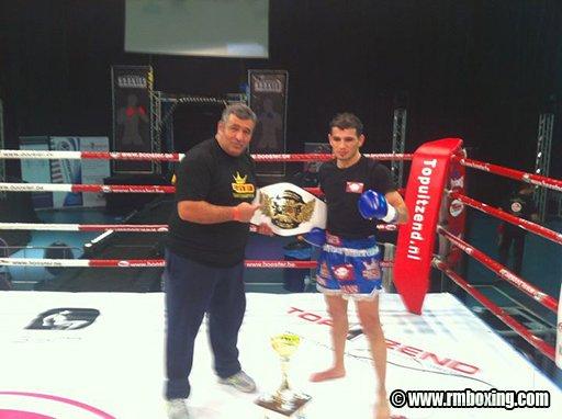 Yetkin Ozkul (rmboxing) champion du monde A1