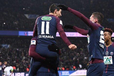Angel Di Maria - PSG / Marseille - 1/4 de finale de la coupe de France 2017/18.