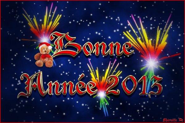 BONNE ANNEE 2013 A TOUS