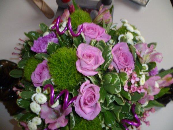 mon beau bouquet de fleur de ma petite Mélissa